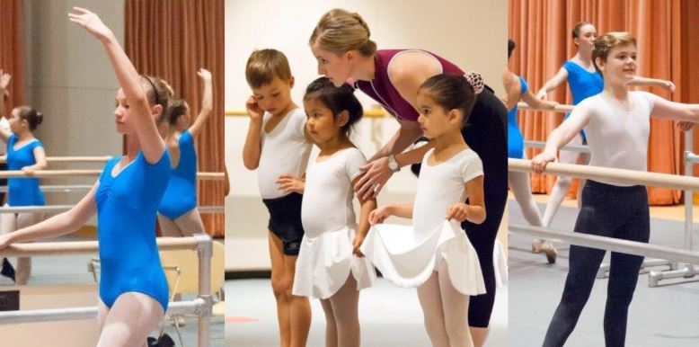 Dancers learn in the school